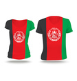 Flag shirt design of Afghanistan vector image vector image