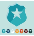 Flat design police badge vector image vector image