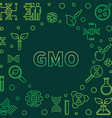 gmo colorful concept in vector image vector image