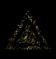 gold flying musical notes isolated on black vector image
