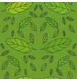 green leaf pattern vector image vector image