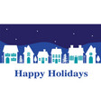 happy holiday white house banner vector image