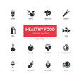 healthy food - line design icons set vector image vector image
