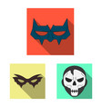 hero and mask symbol set vector image