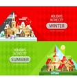 Holidays in the city logo design template