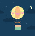 hot air balloon in night sky vector image