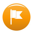 information flag icon orange vector image vector image