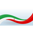 iran waving national flag modern unusual shape vector image