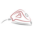 iron drawing on white background vector image vector image