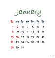 january 2017 vector image vector image