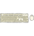 keyboard and mouse vector image vector image