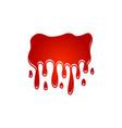 liquid paint melt vector image vector image