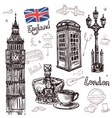 London Sketch Set vector image vector image