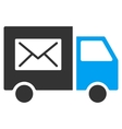 Mail Delivery Van Flat Icon vector image vector image