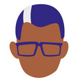 man with glasses design vector image