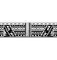 maori style sleeve tattoo vector image vector image