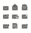 Message Icons Set vector image vector image