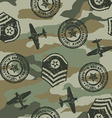 Military badges seamless pattern vector image vector image