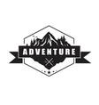 mountain adventure logo template design vector image