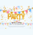 music party banner welcome to festival vector image