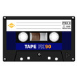 old fashion cassette tape vector image