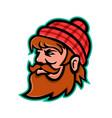 paul bunyan lumberjack mascot vector image vector image