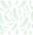 Peacock Feathers Seamless Pattern vector image