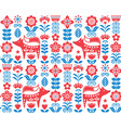scandinavian nordic folk seamless pattern vector image vector image