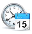 schedule icon vector image vector image
