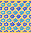 seamless pattern with a lot of flowers on a stripe vector image
