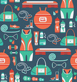 seamless pattern with icons fitness vector image