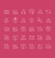 set line icons c2c vector image