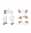 set of hands in different gestures emotions and vector image vector image