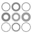 set round frames in modern oriental motifs vector image vector image