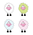 sheep cartoon vector image vector image