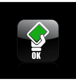 single isolated ok icon vector image vector image