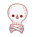 skull death cartoon isolated icon design vector image