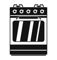 small gas oven icon simple style vector image vector image