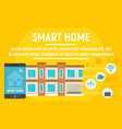 smart home concept banner flat style vector image vector image