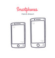 smartphone hand drawn doodle icon vector image