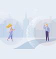 social distance design concept vector image