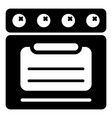 stove oven icon simple style vector image vector image