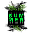 summer slogan print tee graphic design t shirt vector image vector image