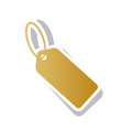 tag sign golden gradient vector image vector image