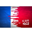The national waving flag of France Blue white vector image vector image