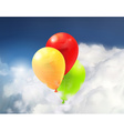 Toy balloons in the clouds vector image vector image