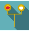 Traffic light for trains icon flat style vector image vector image