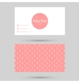 Trendy business card template vector image vector image