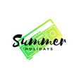 typography summer holidays t-shirt design vector image
