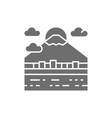 urban japanese landscape mount fuji grey icon vector image